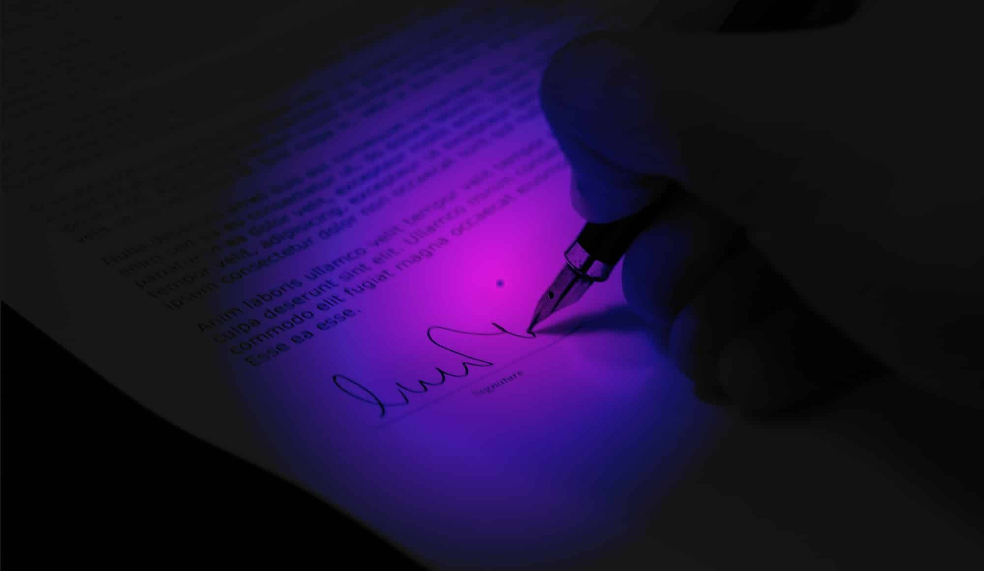 pen signing