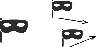 masks with arrows